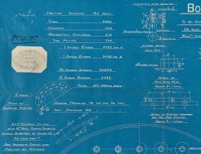 Mauretania Boiler blueprint detail